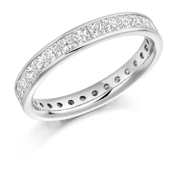 2.00ct Channel Set Princess Cut Diamond Full Eternity Ring