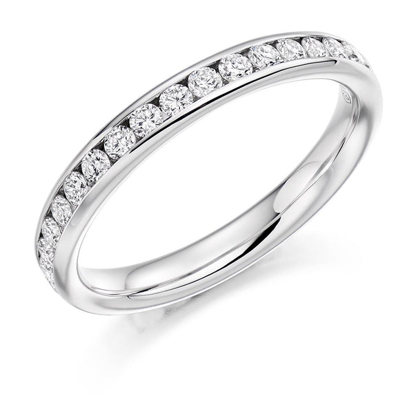 0.75ct Channel Set Diamond Full Eternity Ring