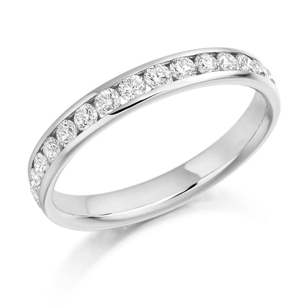 1.00ct Channel Set Diamond Full Eternity Ring