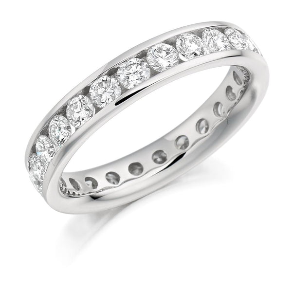2.00ct Channel Set Diamond Full Eternity Ring
