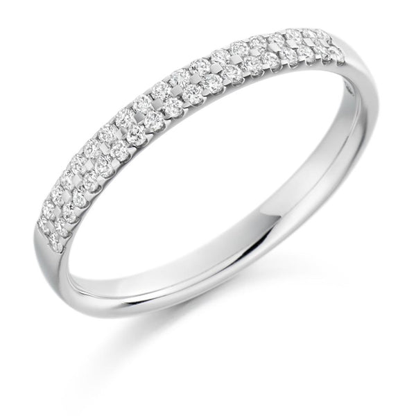 0.25ct Double Micro-Claw Set Diamond Half Eternity Ring