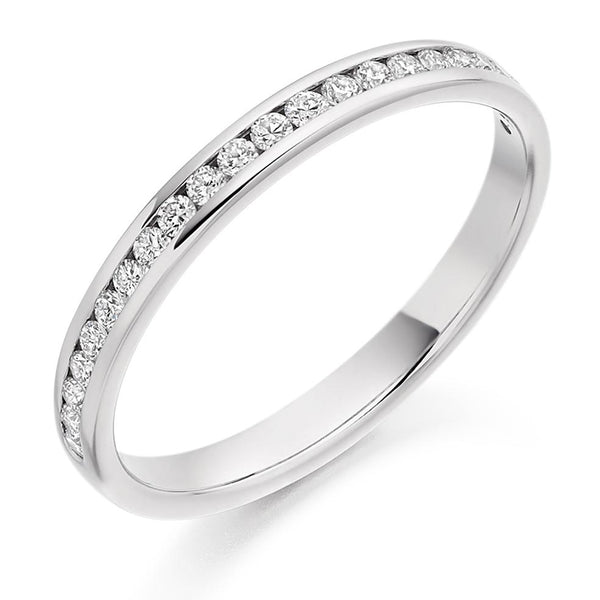 0.25ct Channel Set Diamond Half Eternity Ring