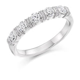 0.60ct Vertical Grain Set Diamond Half Eternity Ring