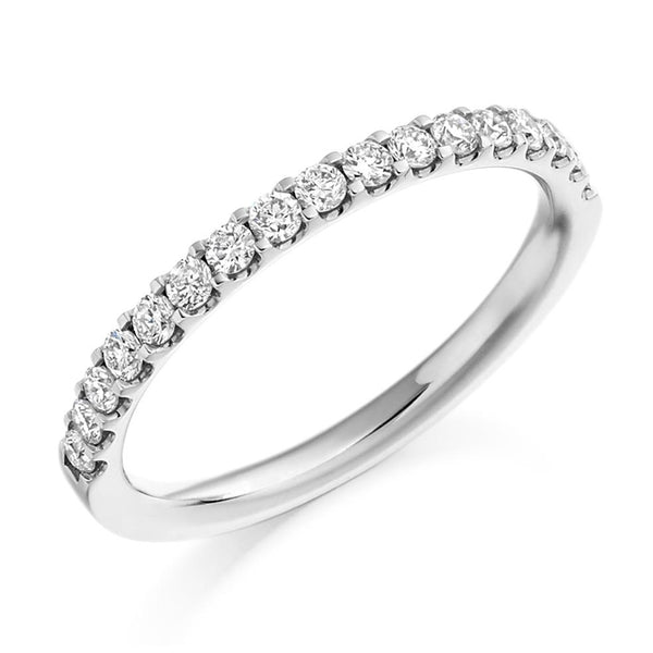 0.33ct Micro-Claw Set Diamond Half Eternity Ring