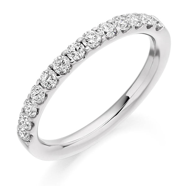 0.50ct Micro-Claw Set Diamond Half Eternity Ring