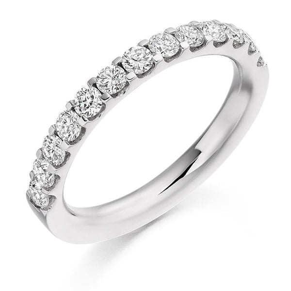 0.75ct Micro-Claw Set Diamond Half Eternity Ring