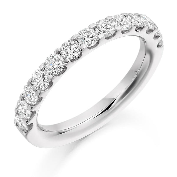 1.00ct Micro-Claw Set Diamond Half Eternity Ring