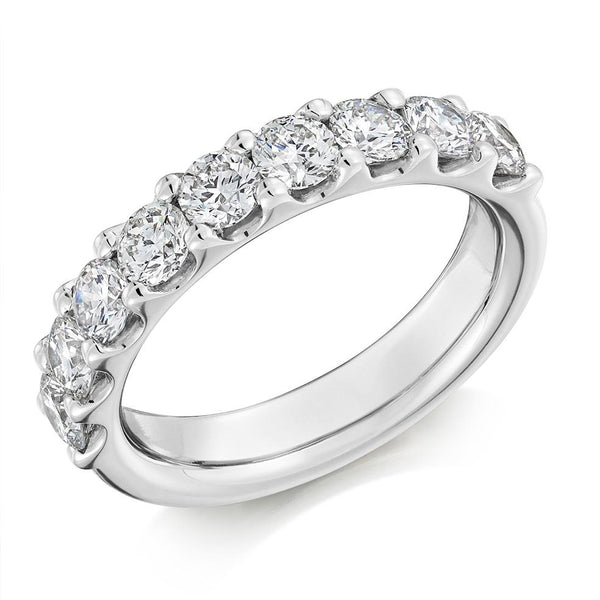 1.50ct Micro-Claw Set Diamond Half Eternity Ring