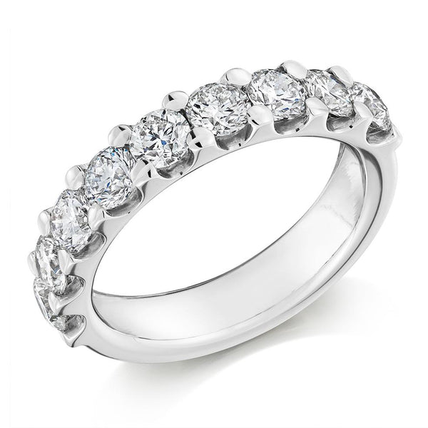 2.00ct Micro-Claw Set Diamond Half Eternity Ring