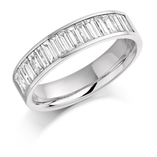 1.00ct Channel Set Baguette Cut Diamond Half Eternity Ring