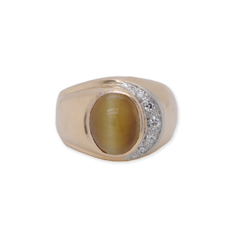 Wide Chrysoberyl Ring