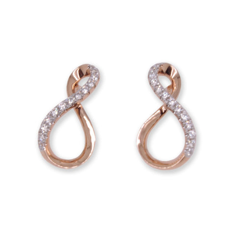 Rose Gold Infinity Earrings