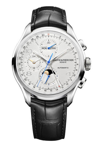 Baume & Mercier Clifton Calendar Moonphase Chronograph 43mm automatic watch MOA10278 - Ogden Of Harrogate