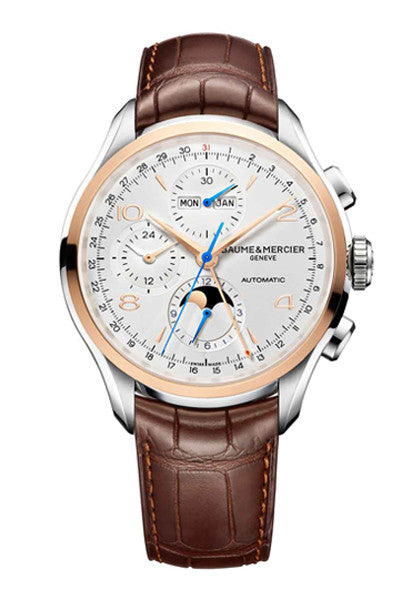 Baume & Mercier Clifton Chronograph 10280 43mm automatic watch - Ogden Of Harrogate