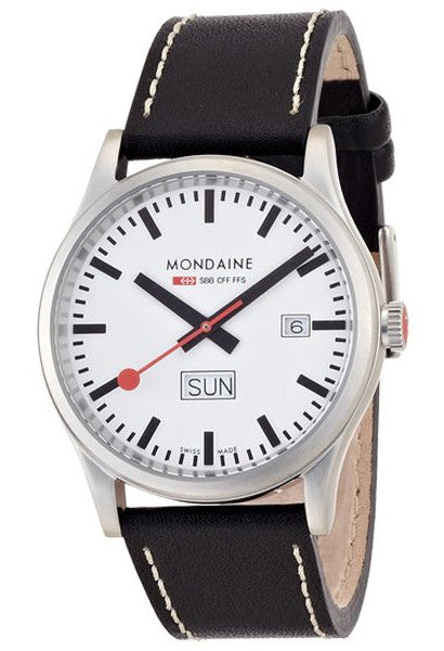 Mondaine Sport Day Date A667.30308.16SBB Watch 41mm brushed finish case - Ogden Of Harrogate