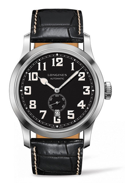 Longines Heritage Military Black Dial and Strap Watch L28114530