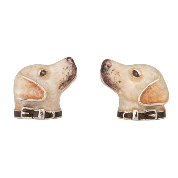 A Pair of Silver and Enamel Labrador Cufflinks