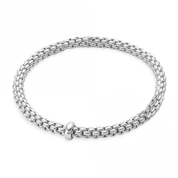 FOPE 18ct White Gold Flex'it Bracelet 620B