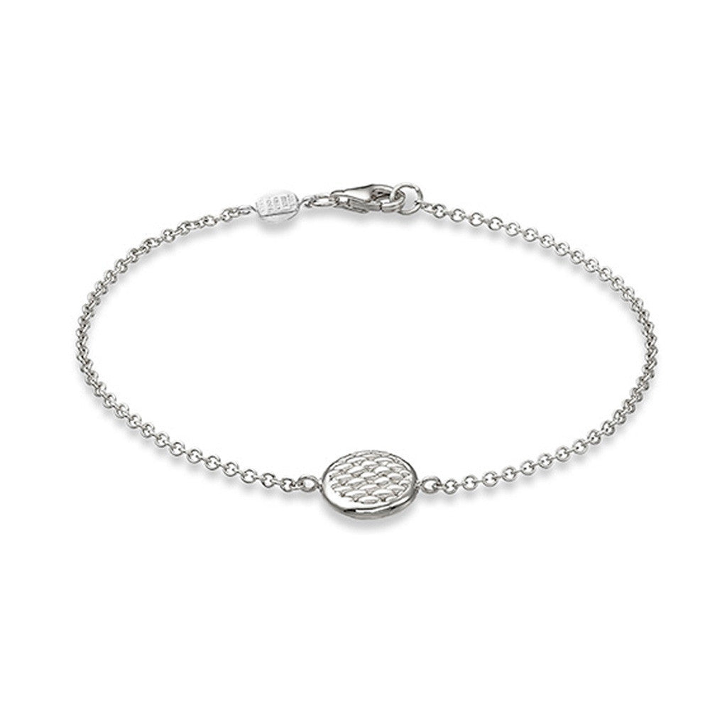 FOPE 18ct White Gold 'Lovely Daisy' Trace Bracelet With Disc 20B