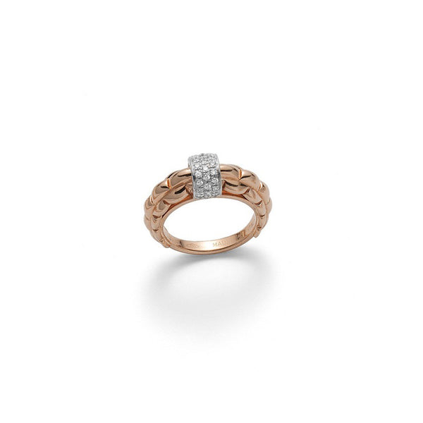 FOPE 'Flex'it Eka' 18ct Yellow Gold Diamond Centre Ring AN290