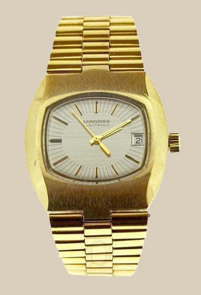 LONGINES Electronic 36mm Gold electro plated vintage retro watch - Ogden Of Harrogate - 1