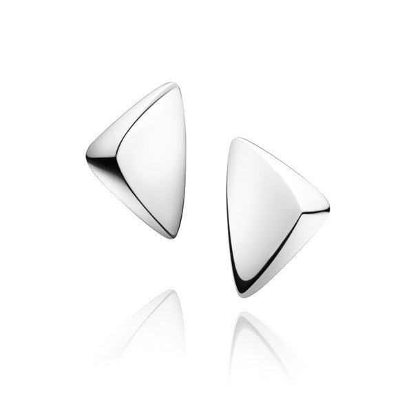 Georg Jensen Silver 'Peak' Clip Earrings 3536873