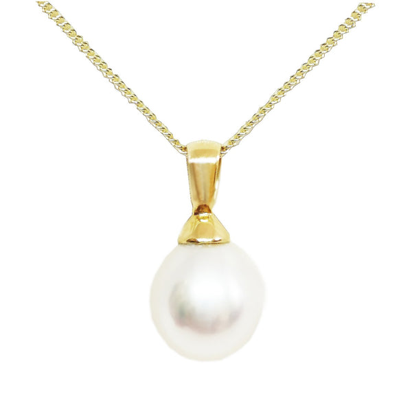 18 Carat Yellow Gold Freshwater Cultured Pearl Pendant