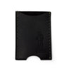 Leather Slide Cardholder - Black