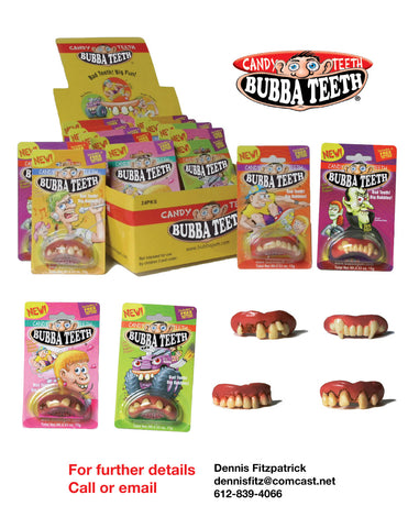Bubba Candy Carton and 4 styles of teeth
