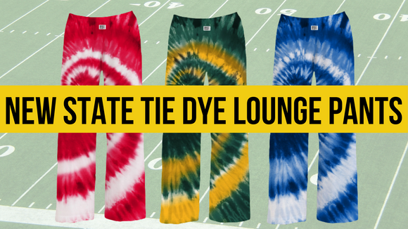 Wear your state pride with our new tie-dye state lounge pants.  blend that mimics the temperature of your body. The light-weight and breathable material provides all-day comfort while wearing.
