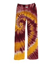 Load image into Gallery viewer, Maroon and Gold State Tie-Dye Pajama Pants