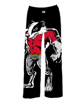 Load image into Gallery viewer, Badger Mascot Pajama Pants