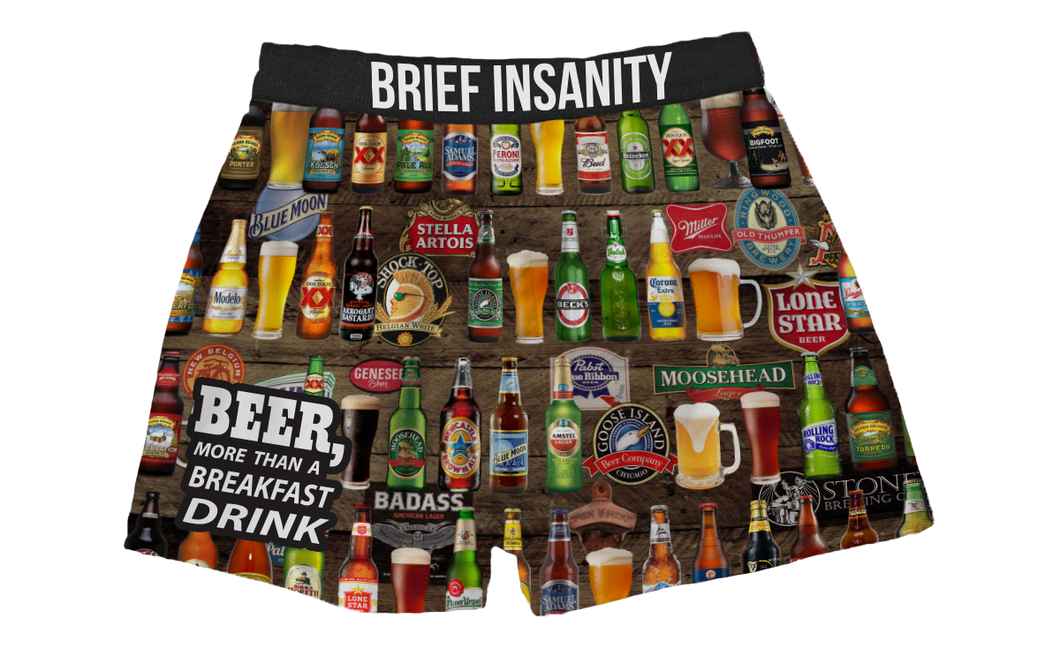 Beer for Breakfast Boxer Shorts
