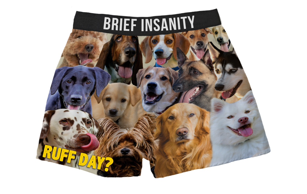 Dogs Boxer Shorts RUFF DAY