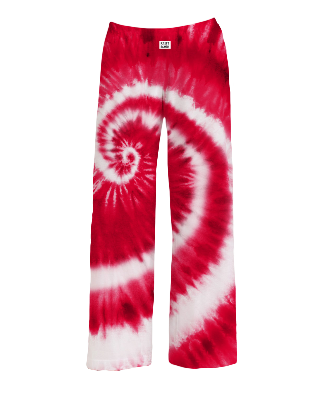 Red and White State Tie-Dye Pajama Pants