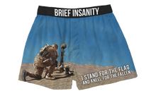 Load image into Gallery viewer, I Stand For The Flag, Kneel For The Fallen Boxer Shorts