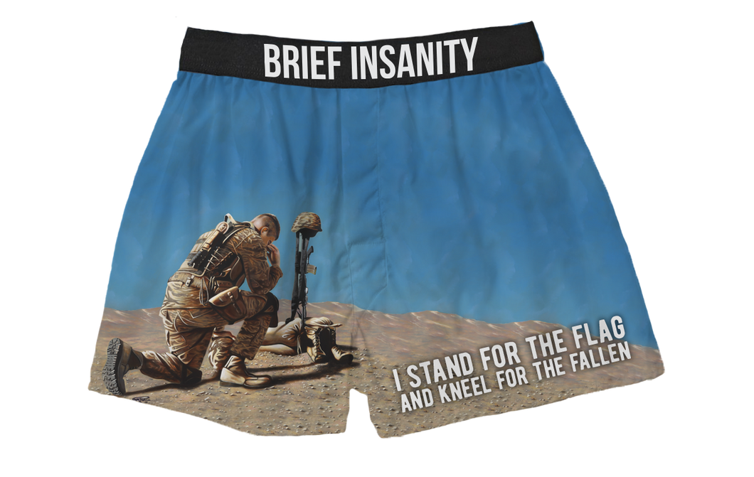 I Stand For The Flag, Kneel For The Fallen Boxer Shorts