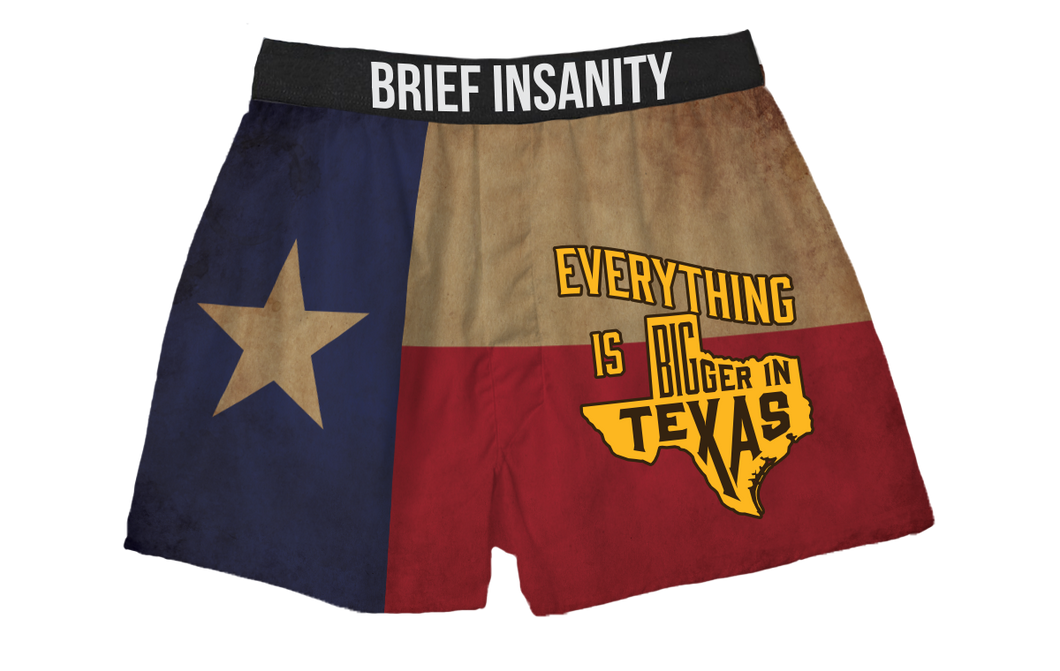 Bigger In Texas Boxer Shorts