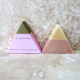 Equilateral Pink and Gold Triangle Soap
