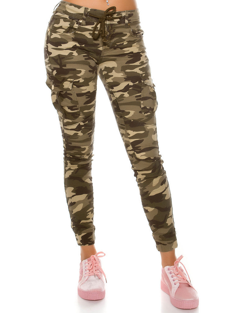 Women's Girls Stylish Ladies  Military Camouflage cargo trousers jeans -  Urban Direct Women's clothing