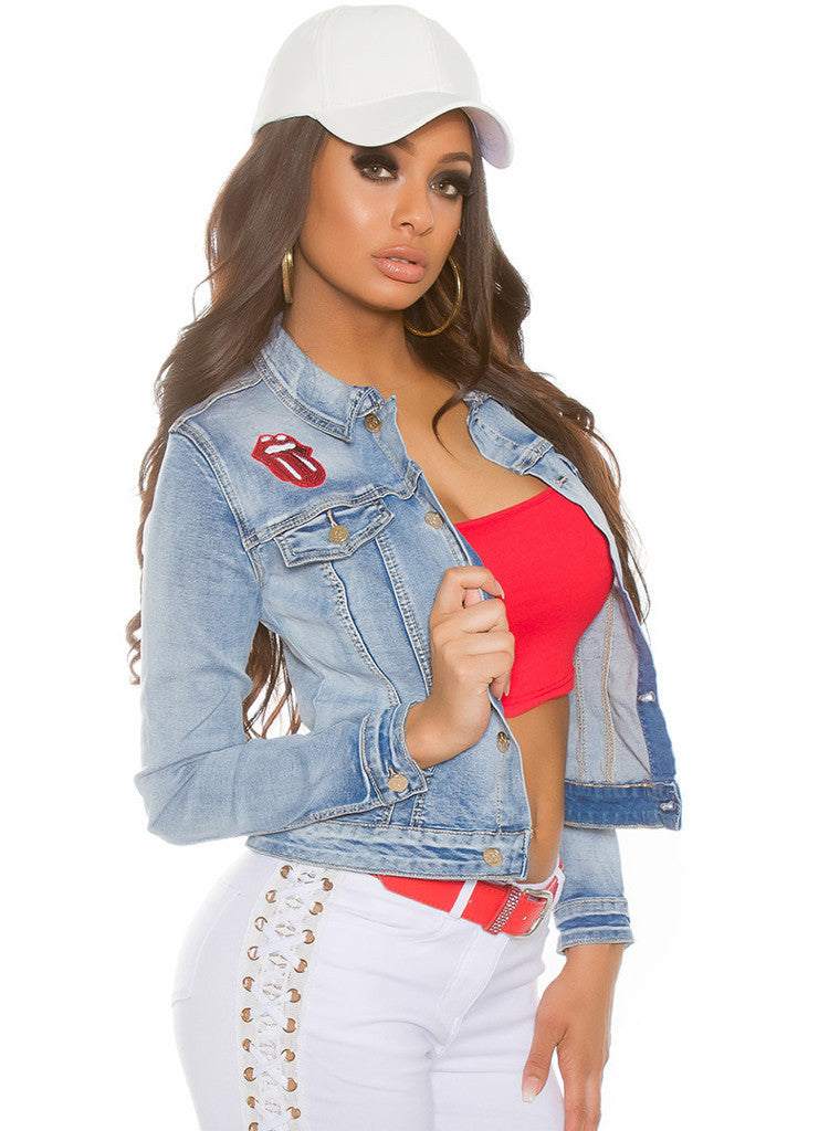 Women s Girls Stylish Embroidered denim jeans jacket - Urban Direct Women s  clothing ... 958bb26a9