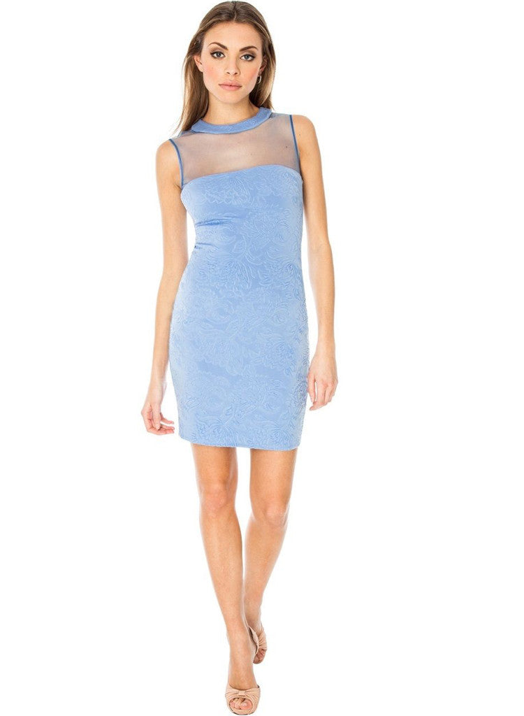 Beautiful Feminine Blue Evening wear Cocktail Clubbing Party Mini dress -  Urban Direct Women's clothing