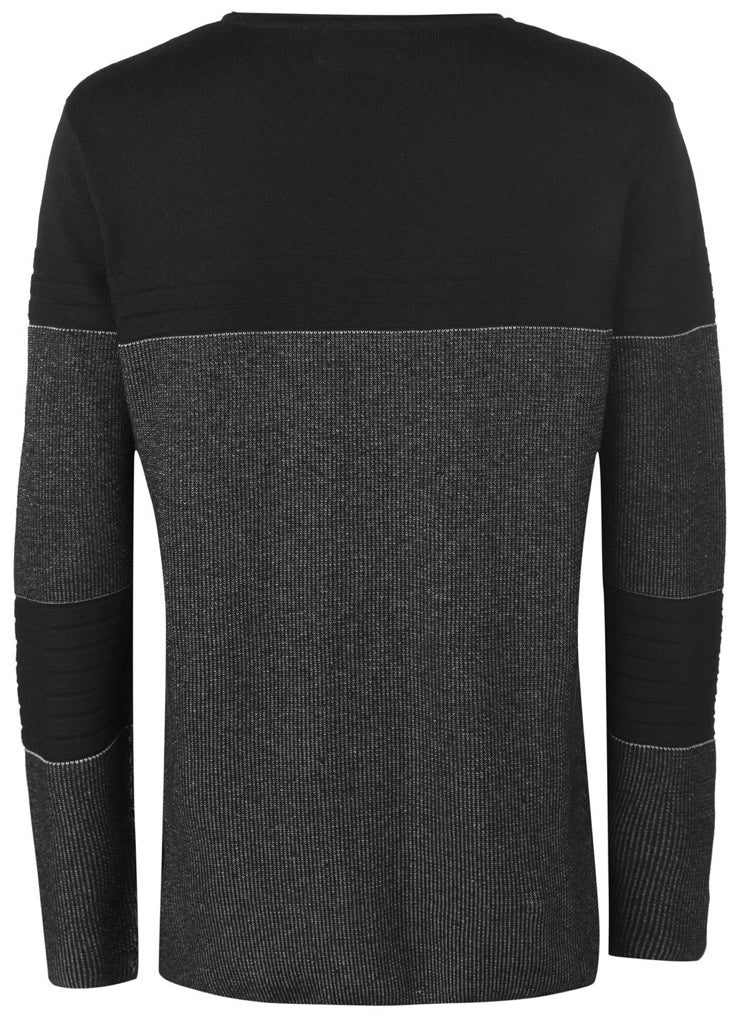 Mens Stylish FIRETRAP ribbed knitted designer jumper.