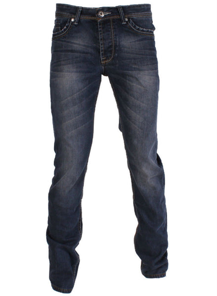 Mens Relaxed fit straight leg Casual blue jeans. -  Urban Direct Women's clothing