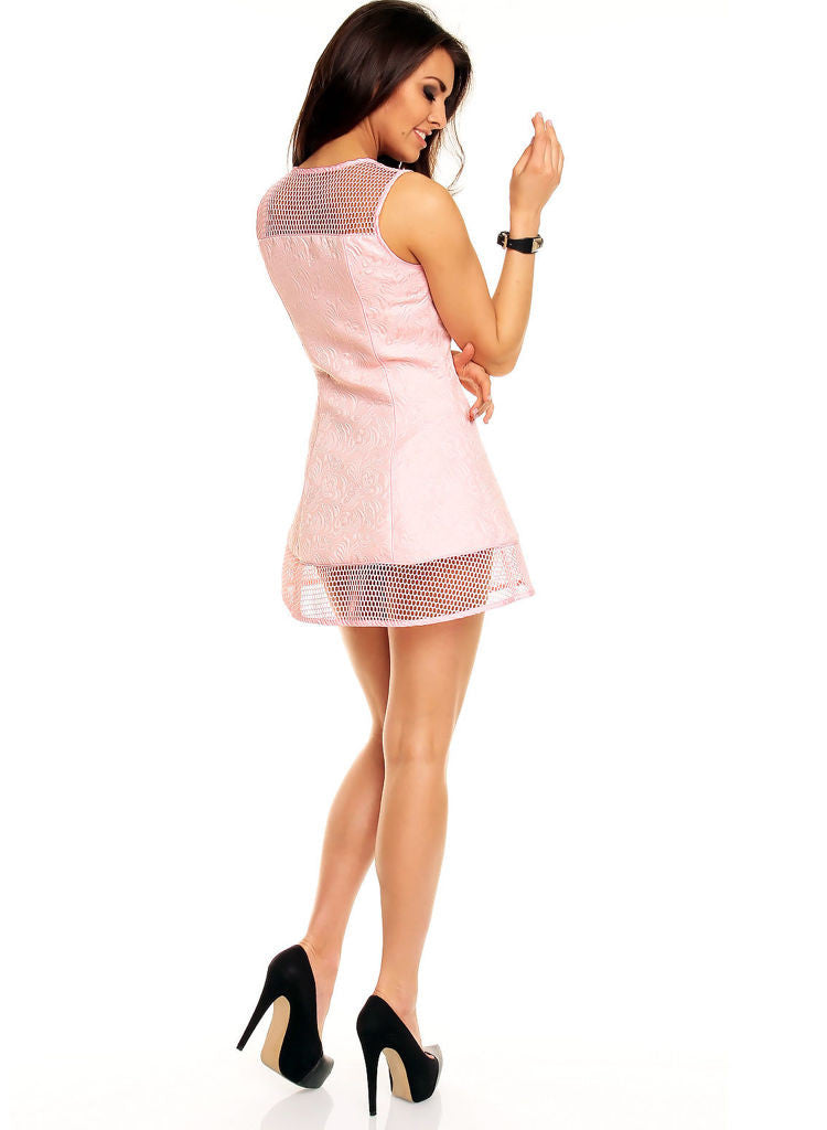 Skater style Pink Mini Dress Cubwear Evening Party dress -  Urban Direct Women's clothing