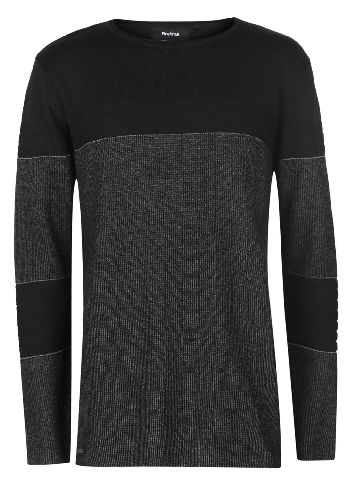 Mens Stylish  ribbed knitted designer jumper.