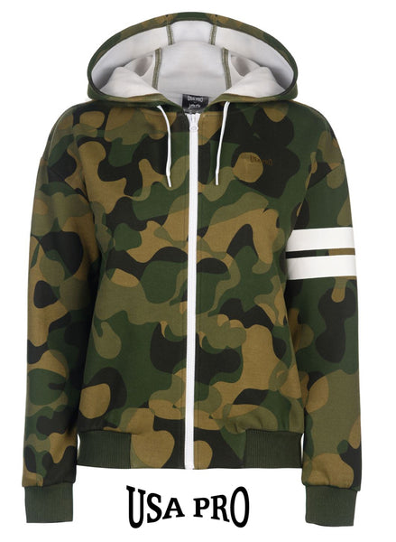Women's Girl's USA PRO Little Mix Camouflage Bomber Hoody fits UK 10