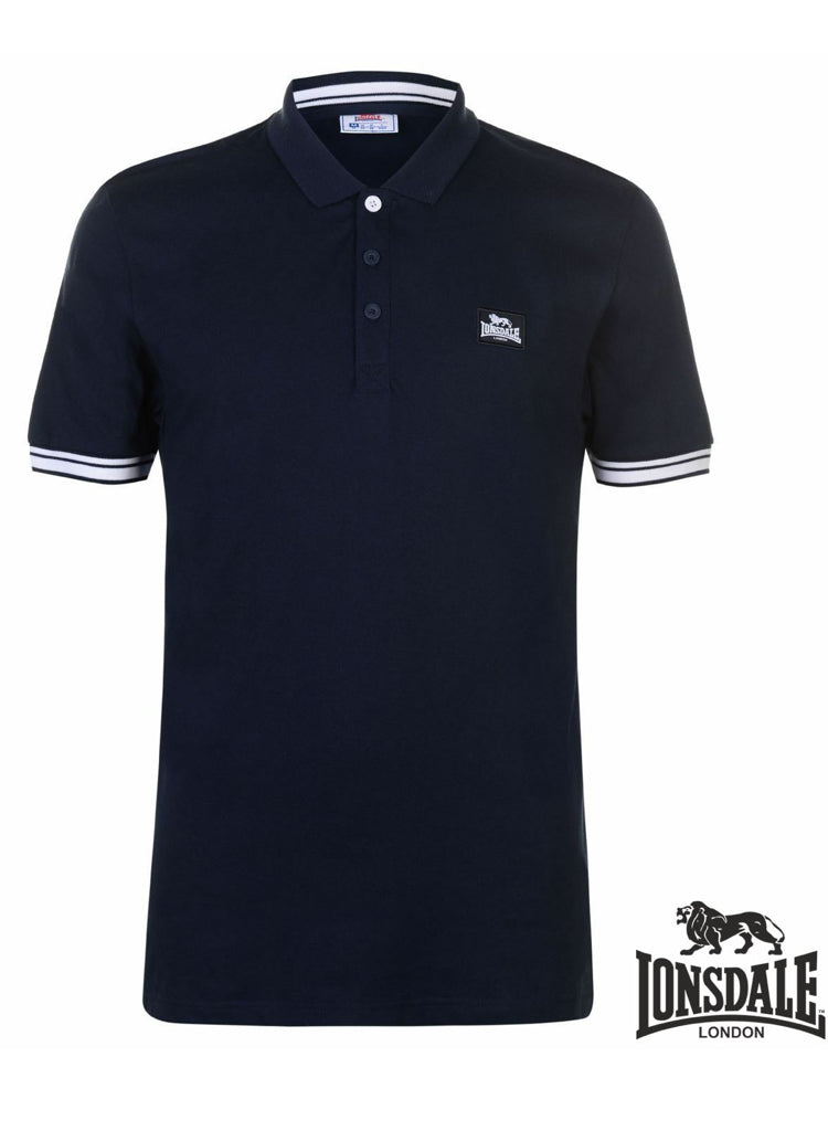 Mens Navy Blue casual sports Polo shirt