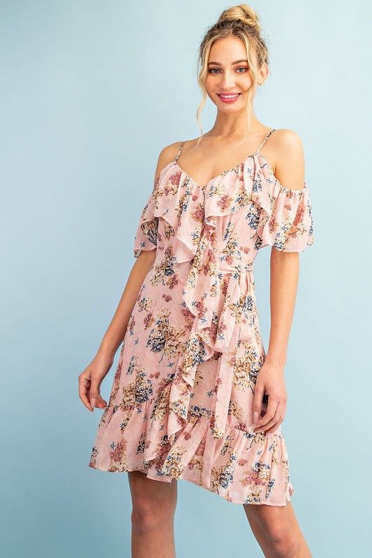 Adeline Floral Dress - Blush