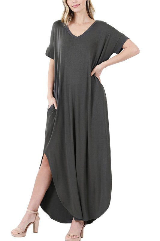 Ash Grey Maxi Dress Plus XL